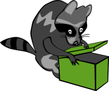 Free Raccoon Thief Clipart