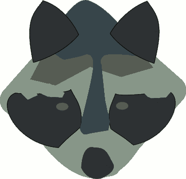 Free Raccoon Camouflage Clipart