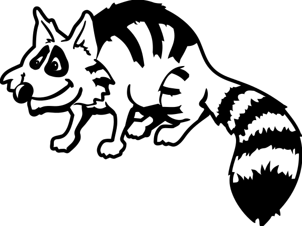 Free Raccoon Clipart, 1 page of Public Domain Clip Art Raccoon Face Clip Art Black And White