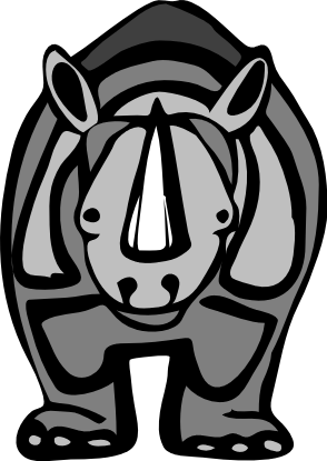 Free Rhinoceros Cartoon Clipart