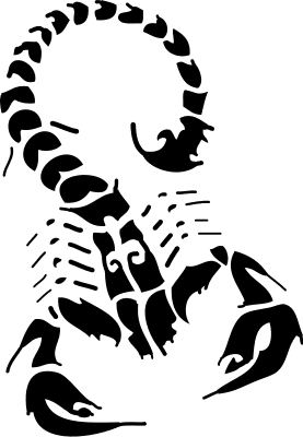 Free Black and White Scorpion Clipart