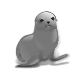 Free Black and White Seal Clipart