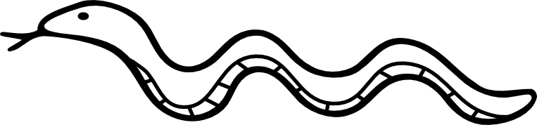 Free Black and White Snake Clipart