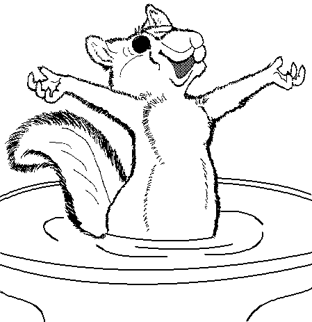 Free Squirrel Cartoon Clipart