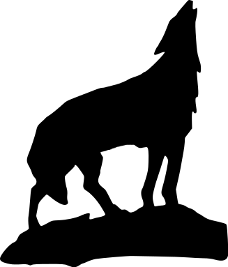 Free Black and White Wolf Clipart