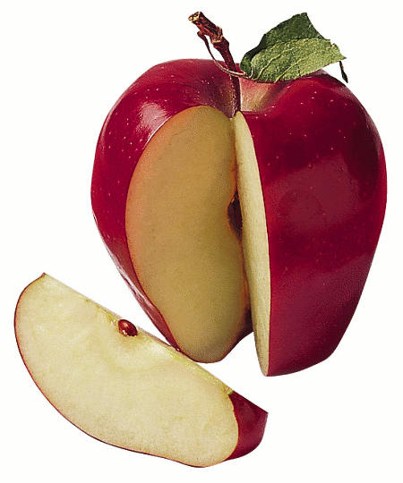Sliced Apple Drawing Apple Slice Food Fruit