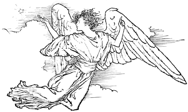 Free Christmas Angels Clipart