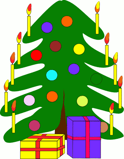 Free Christmas Candles Clipart