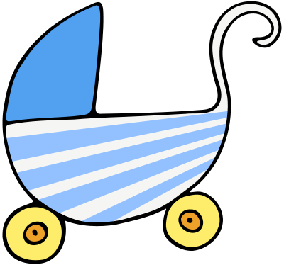 Free Baby Stroller Clipart