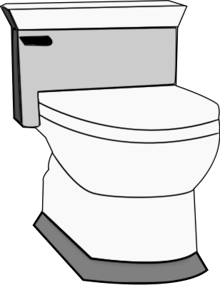 Free Bathroom Coloring Page Clipart