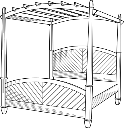 Free Bedroom Coloring Page Clipart