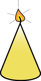 Free Yellow Candle Clipart
