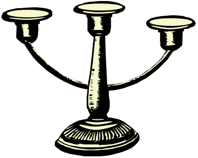 Free Candle Holder Clipart