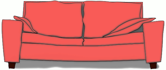 Free Couch Clipart