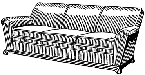 free couch clipart, 1 page of public domain clip art