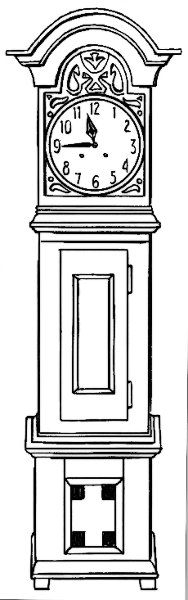 Free Grandfather Clock Clipart