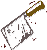 Free Kitchen Cleaver Clipart