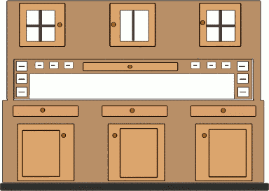 Free Kitchen Cupboard Clipart