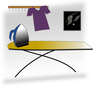 Free Ironing Board Clipart