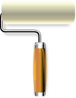 Free Paint Roller Clipart