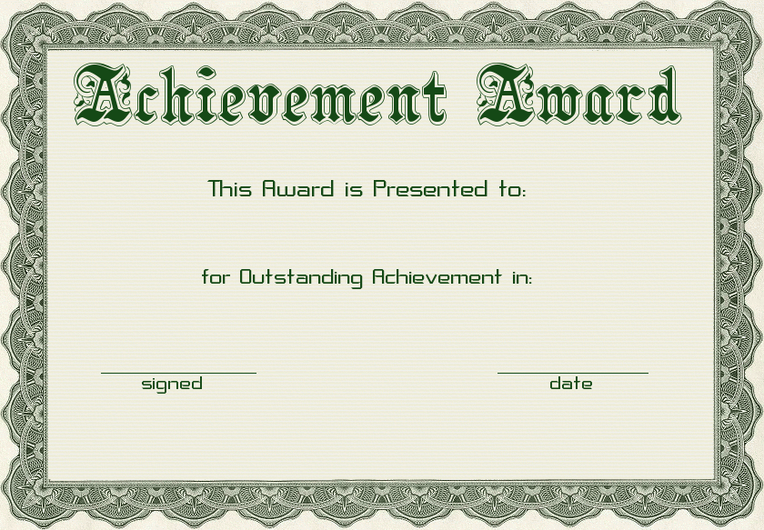 Free Achievement Award Clipart