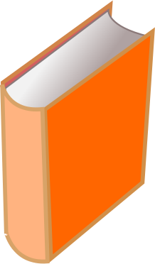 Free Orange Book Clipart