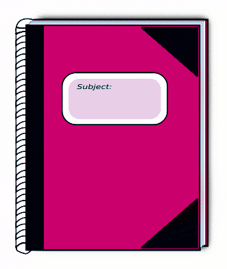 Free Notebook Clipart